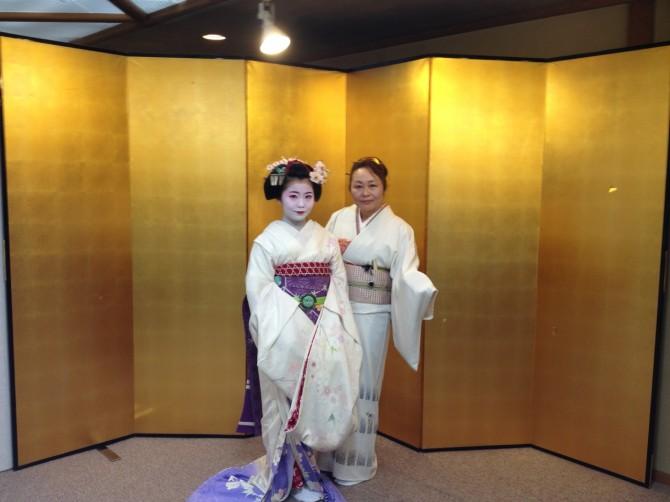 桜満開の京都祇園にて
